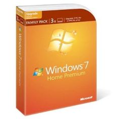 Microsoft Windows 7 Home Premium Upgrade Family Pack (3-User), (windows 7, family pack, upgrade, home premium, microsoft, operating system, windows, operating systems, installation, windows 7 family pack)