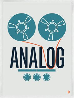 """ANALOG"" from Beats And Music Prints  by My Little Underground"