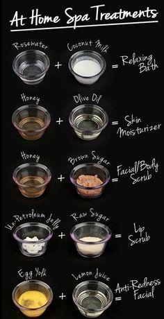 "Very simple 2 ingredient ""spa treatments"""