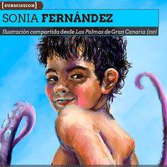Ilustración. Octopus-kid de SONIA FERNÁNDEZ Ilustración compartida desde Las Palmas de Gran Canaria (ESPAÑA).  Leer más: http://www.colectivobicicleta.com/2013/04/Ilustracion-de-SONIA-FERNANDEZ.html#ixzz2RUEtVq8M