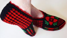 Turkish slippers  Hand knitted female slippers by galapagospg, $18.00