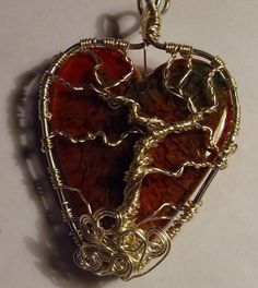 handmade heart Tree of Life wire wrapped by handmade4youboutique
