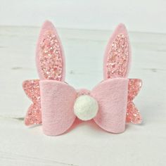 Bunny hair bow - easter gifts - toddler hair clips - headband bows - gifts for girls - baby bow - baby headbands - baby hair clip- hair clip by MimiandMabel on Etsy