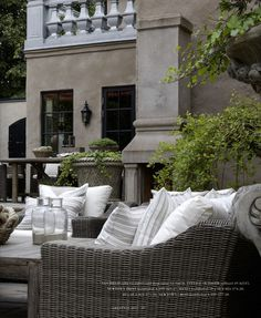 grey rattan outdoor seating