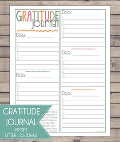 Choose Happiness! And to help you do that, print out this great Gratitude Journal printable from Little LDS Ideas.