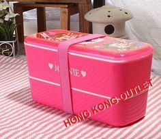 Minnie Mouse 2 Tier Bento Lunch Box Case + Box Belt Disney  M57a