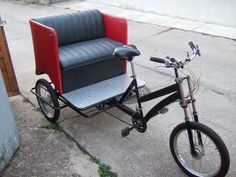 The pictures below may give others who are interested in designing and building their own pedicabs some ideas. Bicycle Sidecar, Bicycle Race, Velo Tricycle, Bike Cart, Bike Hanger, Motorised Bike, Power Bike, Drift Trike, Bike Trailer
