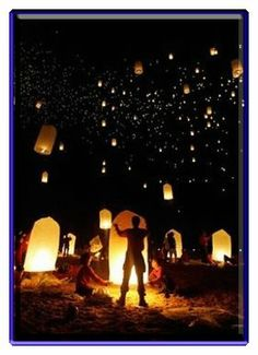 Sky Lanterns! So Cool! An awesome way to end a Tangled Birthday Party!