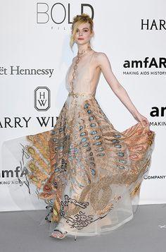 Elle Fanning wearing HESPER at the 2016 Cannes Film Festival
