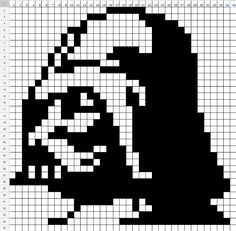 Star Wars Darth Vader perler bead pattern