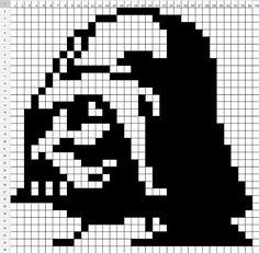 Star Wars Darth Vader perler bead pattern