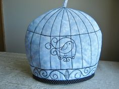 Embroidered Birdcage Tea Cosy  Etsy RichardAndSon