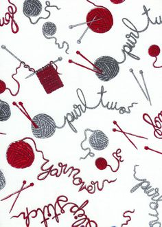 """From the """"Do Ewe Knit?"""" fabric collection by Timeless Treasures"""
