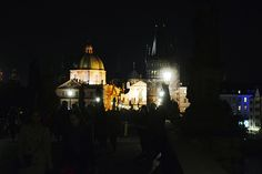 Charles Bridge at night Charles Bridge, Prague, Photo And Video, Night, Concert, Photos, Pictures, Concerts