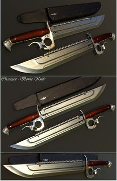 Chainsaw-Bowie Knife by mrhd on deviantART