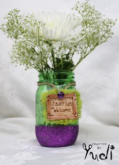 A personal favorite from my Etsy shop https://www.etsy.com/listing/238619124/fairy-party-mason-jar-centerpieces-mason