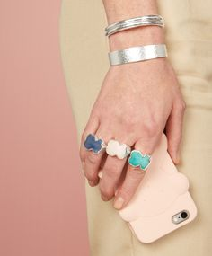 Radiant ring with vibrant silhouettes. Discover the colors at tous.com