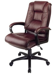 nice full leather office chair - Leather Office Chairs