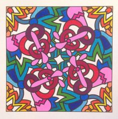 From Angie Grace colouring book Quirky for Crayons and Wide Tipped Markers.