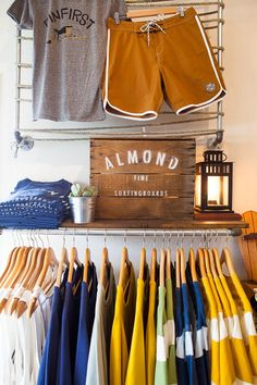 Neat shelf display with sign/lantern. Draws you in to look at the rack below.