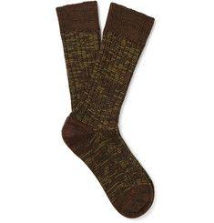The Workers ClubMarled Merino Wool-Blend Socks