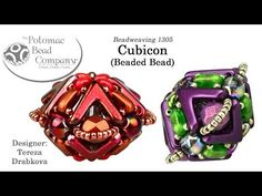 Cubicon Beaded Beads (Tutorial) - YouTube