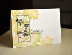 Thankful For You Card by Maile Belles for Papertrey Ink (August 2012)