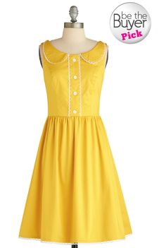 Yellow Peter Pan collar Modcloth dress.