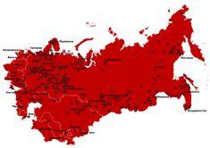 - Map of The Soviet Gulag Archipelago 1923-1961