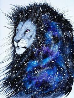 #galaxy #lion #art #print