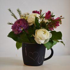 A mug full of love and flowers