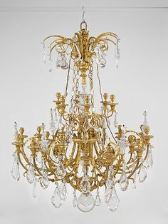 1790 French Twenty-four-light chandelier (one of two) at the Metropolitan Museum of Art, New York
