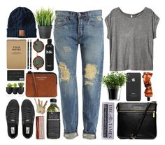 """""""Red brick walls"""" by vv0lf ❤ liked on Polyvore featuring H&M, Bardot, Incase, LSA International, Aesop, Michael Kors, Vans, American Apparel, Acne Studios and Authentics"""