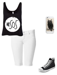 """""""Sans titre #753"""" by harrystylesandliampayne ❤ liked on Polyvore featuring Hudson Jeans, Converse and Casetify"""