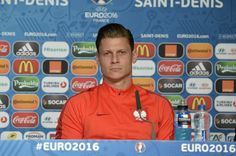 Lukasz Piszczek Photos Photos - In this handout image provided by UEFA Poland player Lukasz Piszczek addresses the press during a Poland press conference on June 15, 2016 in Paris, France. - Euro 2016 - Poland Press Conference