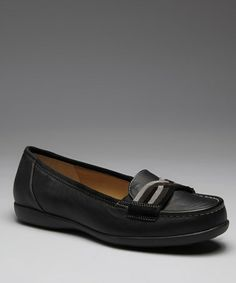 Take a look at this Black Calf Madalyn Loafer by Ros Hommerson on #zulily today!