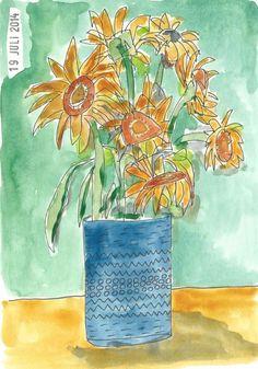 19 juli. Zonnebloemen