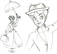 Mary Poppins - Sketchbook ornament Steve Thompson