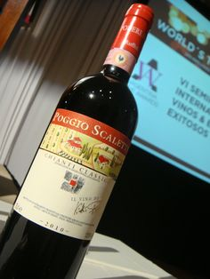 Wine tasted at the Judges Seminar: Chianti Classico - DOCG - Sangiovese 2010. Podere Poggio Scalette Winery. Italy.