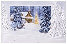 Cabin In The Woods - Winter Scenes from CardsDirect