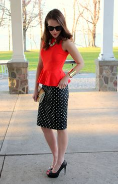 Love this outfit. I have similar skirt, now I want the blouse