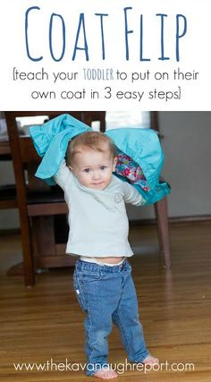 The Montessori Coat Flip The Montessori Coat Flip teach your toddler to put on their own coat in 3 easy steps. This is one simple way to promote independence with young kids! The post The Montessori Coat Flip appeared first on Toddlers Ideas. Montessori Classroom, Montessori Toddler, Montessori Activities, Toddler Play, Toddler Learning, Baby Play, Infant Activities, Teaching Kids, Learning Games