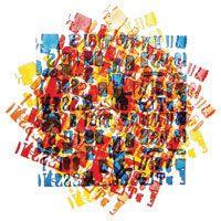 E. Ovčáček - Otačeni (rotation), 2000, sérigraphie, 100x70 cm., janv. 2014