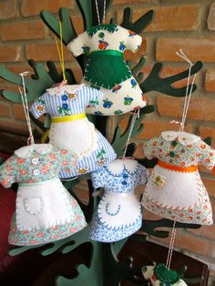Sunday Best Apron Ornaments or Pin Cushions - Inspired by the movie - The Help - Choose 2 for 18.00. $18.00, via Etsy.