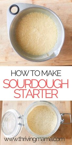 Learn how to make an easy homemade sourdough starter from scratch, as well as the health benefits long fermented sourdough can offer. Baking sourdough starter from scratch is a traditional skill that Whole Food Diet, Whole Food Recipes, Sourdough Bread Starter, Organic Sourdough Bread Recipe, Sourdough Starter Recipe With Potato Flakes, Sour Dough Bread Starter Recipe, Homeade Bread, Gluten Free Sourdough Bread, Homemade Food
