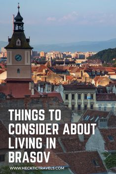 If anyplace could make us settle down, it could be this city in Romania. Living in Brasov is definitely being considered. Visit Romania, Back In Time, Eastern Europe, Paris Skyline, Country, City, Travel, Viajes, Rural Area