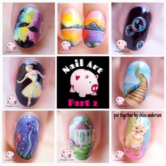 #nailartgoals PART 2 // NAIL ART+1 vid tut | UFOs, landscapes, animals, volcano & more \ piggieluv #Beauty #Musely #Tip
