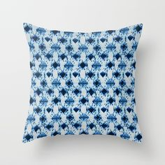 Buy small tie dye diamond in ocean blue Throw Pillow by mpzstudio. Worldwide shipping available at Society6.com. Just one of millions of high quality products available.