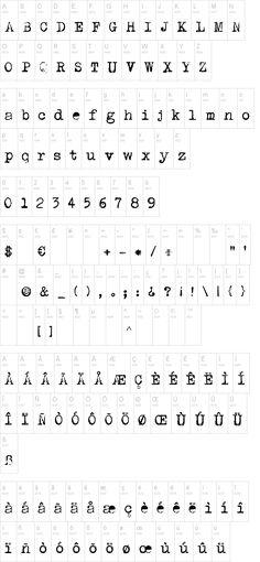 fonte DK P.I. - máquina de escrever