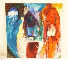 RICHARD MANN ABSTRACT OIL PAINTING ON CANVAS. 48 INCHES SQUARE. Lot 1178 | #1760701498 Oil Painting Abstract, Art, Craft Art, Kunst, Abstract Oil, Art Education, Sanat